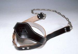 画像1: 本革製ヘッドストラップ