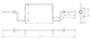 画像3: スクワットシャフトA(28mm穴プレート用)(カラー付き)(ヘックスバー、トラップバー)